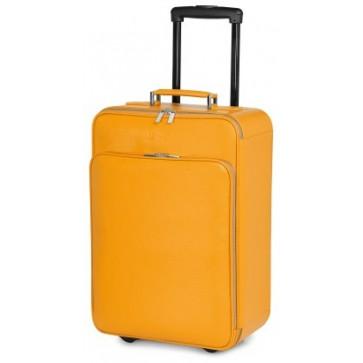 Troller, galben, din piele de bovina, FEDON Travel Set Trolley