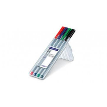 Set liner 0.3mm, 4 culori/set, STAEDTLER Triplus