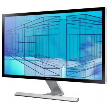 "Monitor LED, 28"", Ultra HD, argintiu-negru, SAMSUNG U28D590D"