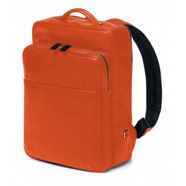 Rucsac, portocaliu, din piele de bovina, FEDON British Backpack