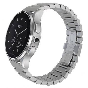 SmartWatch VECTOR Watch Luna, argintiu, bratara metalica