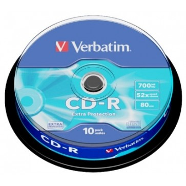 CD-R, 700MB, 52X, 10 buc/bulk, VERBATIM Extra Protection