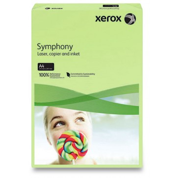 Hartie colorata, A4, 160 g/mp, verde dechis (green), 250 coli/top, XEROX Symphony