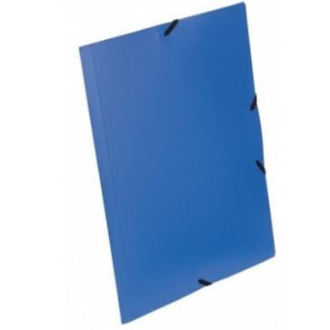 Mapa din plastic, A4, albastru, cu elastic, VIQUEL Rabats