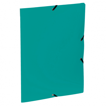 Mapa din plastic, A4, verde-menta, cu elastic, VIQUEL Rabats