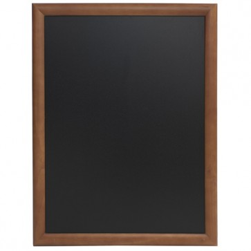 Tabla pentru creta, rama lemn maro inchis, 60 x 80cm, SECURIT Universal