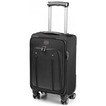 Troller, gri/portocaliu, din piele de bovina si nylon, FEDON Travel Web Trolley-S