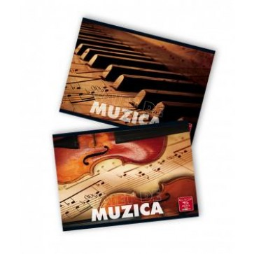 Caiet muzica, A4, 24 file, PIGNA Clasic
