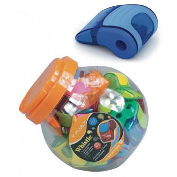 Ascutitoare din plastic, cu container, radiera, PIGNA Whistle Y-Plus+