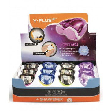 Ascutitoare din plastic dubla, cu container, PIGNA Astro Y-Plus+