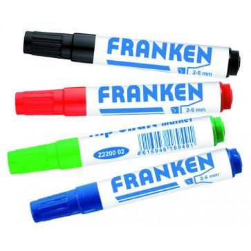 Marker pentru flipchart, 2-6mm, 4 buc/set, FRANKEN