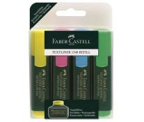 Textmarker, 4 culori/set, FABER CASTELL 1548