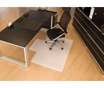 Protectie podea pentru suprafete dure, forma L, 130 x 120cm, RS OFFICE BSM