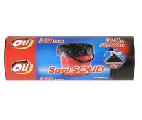 Saci menaj, 35L, 30 buc/rola, negru, OTI Solid