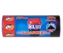 Saci menaj, 60L, 20 buc/rola, violet, OTI Solid