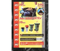 Saci menaj, 240L, 10 buc/rola, negru, OTI Solid Extra