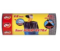 Saci menaj, 35L, 15 buc/rola, negru, OTI Solid Extra