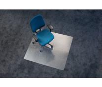 Protectie podea pentru covoare, forma O, 90 x 120cm, RS OFFICE EcoBlue
