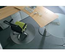 Protectie podea pentru covoare, forma R, diametru 90cm, RS OFFICE EcoGrip