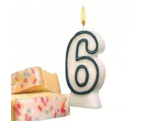 Lumanare aniversara, cifra ''6'', HERLITZ