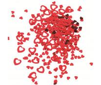 Confetti, rosu, 14gr/set, HERLITZ Inimi