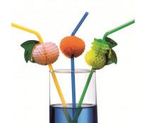 Paie flexibile, cu decor fructe, 10 buc/set, HERLITZ