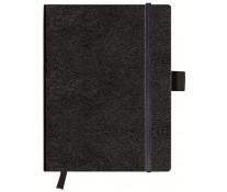 Bloc notes 19 x 24.5cm matematica, coperta din piele sintetica cu elastic, 96 file, HERLITZ My Book Classic