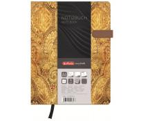 Bloc notes A6, dictando, coperta tare lucioasa cu magnet, 96 file, HERLITZ My Book Classic Oriental