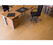 Protectie podea pentru suprafete dure, forma O, 75 x 120cm, RS OFFICE EcoGrip