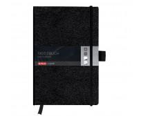 Bloc notes A4, 96 file, matematica, coperta din piele sintetica cu elastic, My Book Classic Negru