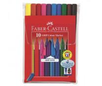 Carioci, 10 culori/set, FABER CASTELL Grip