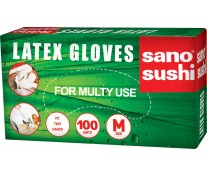 Manusi latex, masura L, 50 perechi/ cutie, SANO Sushi