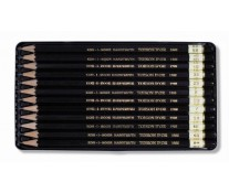 Set creioane cu mina grafit, 12 bucati/set, cutie metal, KOH-I-NOOR Toison D'or Art