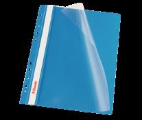 Dosar din plastic, cu sina si multiple perforatii, albastru, ESSELTE Vivida