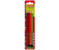 Creion grafit, H, HB, B, 2B, 4 buc/blister, HERLITZ