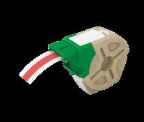 Cartus, plastic, 12mmx10m, plastic rosu, adeziv permanent, LEITZ Icon