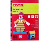 Carton colorat 22 x 32cm, 300 g/mp, 10 coli/set, HERLITZ