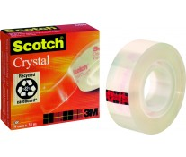 Banda adeziva, 19mm x 66m, SCOTCH Crystal 600