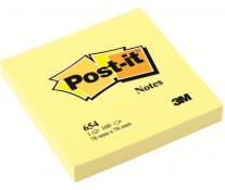 Notes autoadeziv, 76 x 76mm, 100 file/set, galben clasic, POST-IT 654