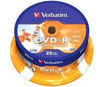 DVD-R, 4.7GB, 16X, 25 buc/bulk, printabil, VERBATIM Wide Photo Printable - ID Branded