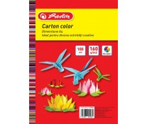 Carton colorat, A4, 160 g/mp, diverse culori, 100 coli/top, HERLITZ