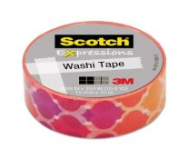 Banda adeziva decorativa, frunze colorate, 15mm x 10m, SCOTCH Expressions Washi Tape