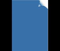 Coperti transparente, albastru, A4, 200 microni, 100 buc/top, FELLOWES