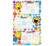 Etichete scolare, 3 x 3 coli/set, HERLITZ Smiley World Rainbow