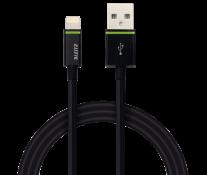 Cablu de date - USB, 2m, negru, LEITZ Complete Lightning