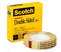 Banda dublu adeziva, 12mm x 33m, SCOTCH 665