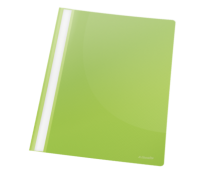 Dosar din plastic, cu sina, verde, 25 bucati/pachet, ESSELTE VIVIDA