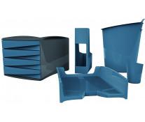 Set birou, 5 piese, albastru, FELLOWES Green2Desk