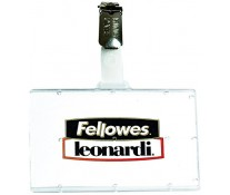 Ecuson pentru carduri cu clips metalic, 92 x 60mm, FELLOWES leonardi