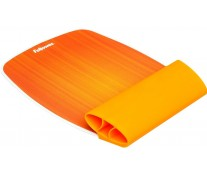 Mousepad cu suport pentru incheieturi, portocaliu, FELLOWES I-Spire